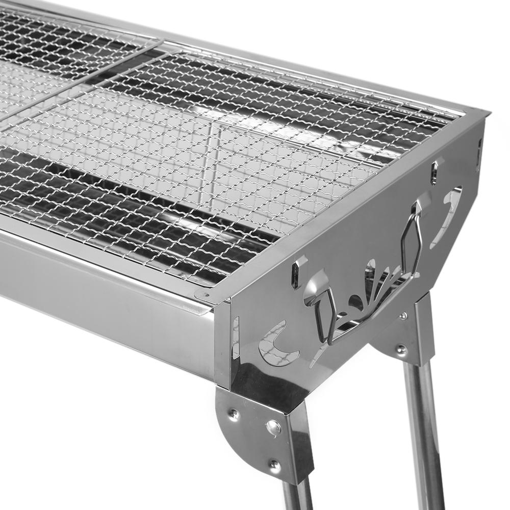 bbq edelstahl holzkohle grill tischgrill garten outdoor. Black Bedroom Furniture Sets. Home Design Ideas